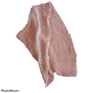 Knitted Light pink handmade bamboo scarf